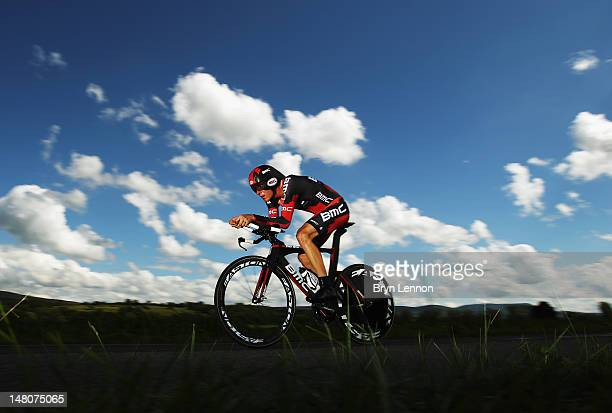 Tejay van Garderen of the USA and the BMC Racing Team in action during stage nine of the 2012 Tour de France, a 41.5km individual time trial, from...