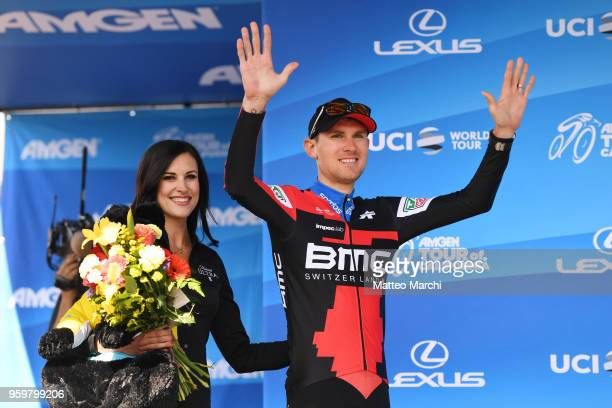 Tejay Van Garderen of USA and Team Bmc Racing Team celebrates on the podium after stage four of the 13th Amgen Tour of California 2018 San Jose /...