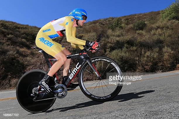 Tejay van Garderen riding for BMC Racing rides to victory in the Individual Time Trial during Stage Six and defends the overall race leader's jersey...