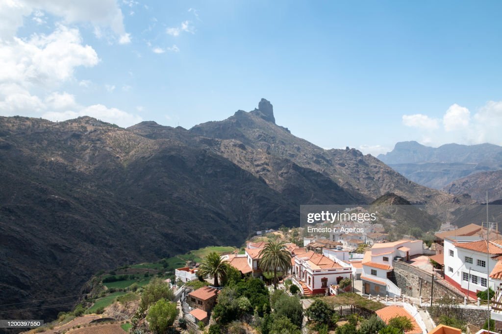 Tejeda and Roque Bentayga, Gran Canaria : Stock Photo