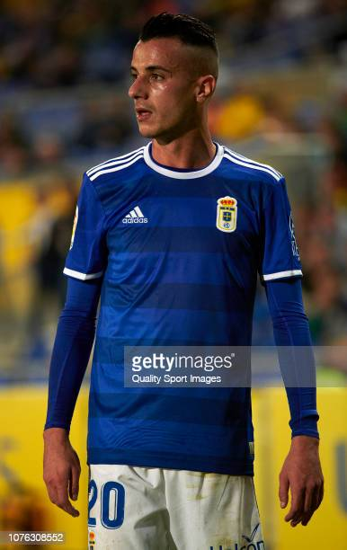 Tejera of Real Oviedo during the La Liga 123 match between UD Las Palmas and Oviedo at Estadio Gran Canaria on December 02 2018 in Las Palmas Spain