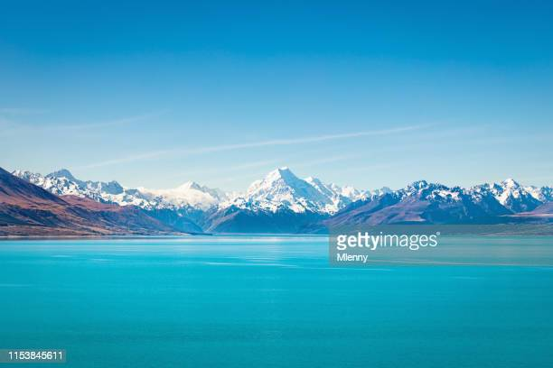 tekapo lake aoraki mount cook new zealand - horizontal stock pictures, royalty-free photos & images