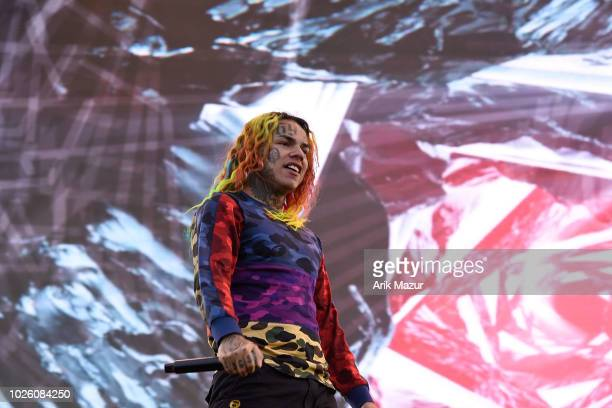 Tekashi 6IX9INE performs at Made in America Music Festival on September 1 2018 in Philadelphia Pennsylvania