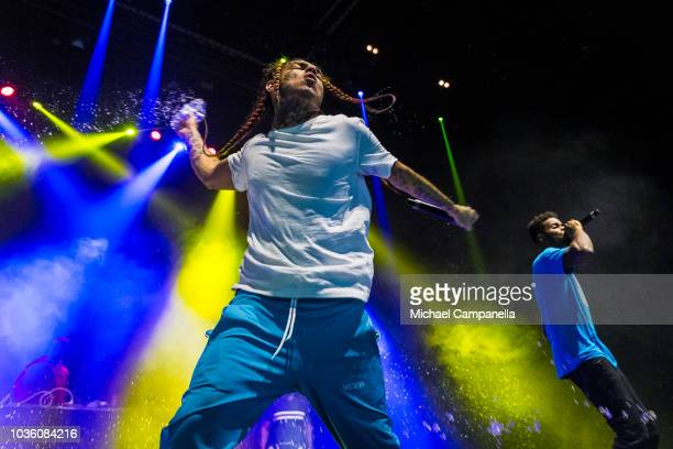 Tekashi 6ix9ine performs in concert at Hovet on September 19 2018 in Stockholm Sweden