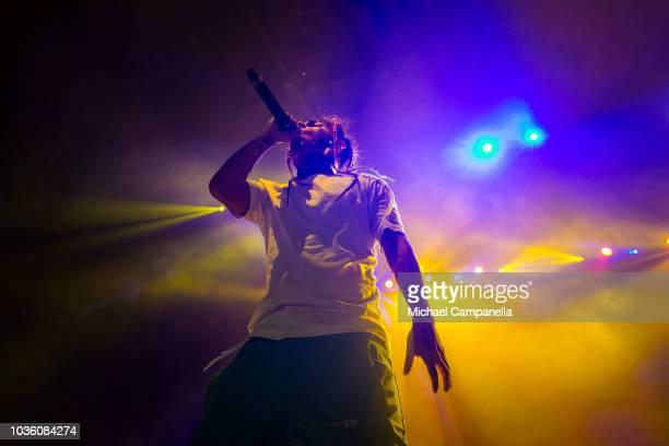 Tekashi 6ix9ine performs in concert at Hovet on September 19 2018 in Stockholm Sweden