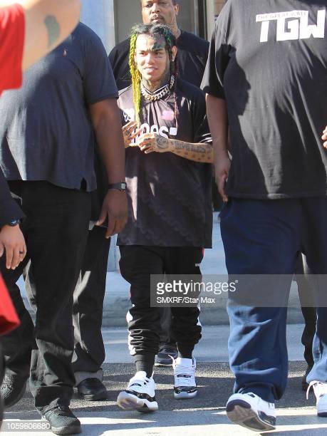 Tekashi is seen on November 8 2018 in Los Angeles CA