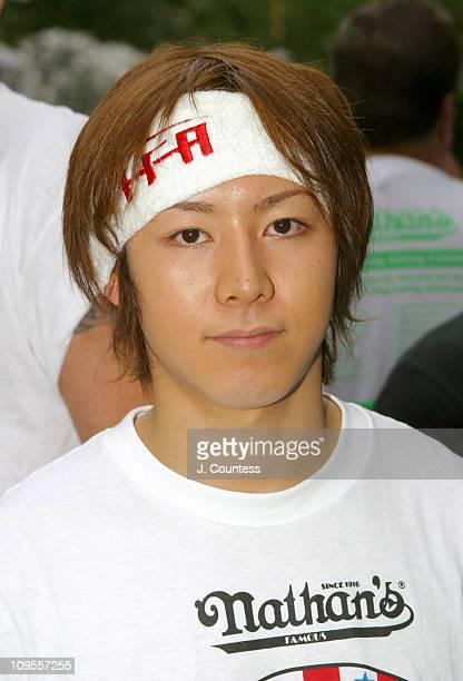 Tekeru Kobayashi three time winner of the Nathan's Fourth of July International Hot Dog Eating Contest