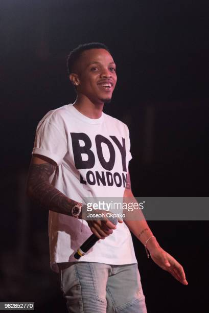 Tekno performs on stage during AFROREPUBLIK festival at The O2 Arena on May 26 2018 in London England