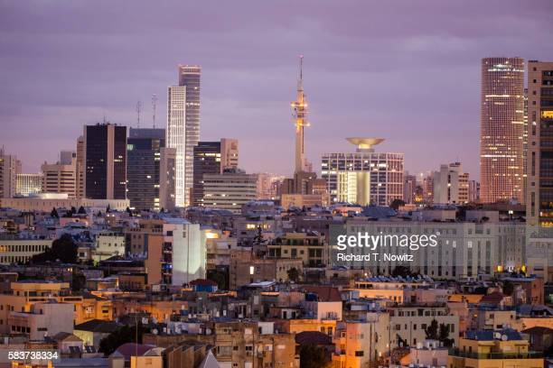 tel aviv central business district's building boom - tel aviv stock pictures, royalty-free photos & images