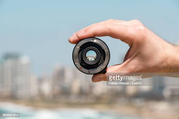 Tel Aviv Cityscape Seen Through Camera Lens