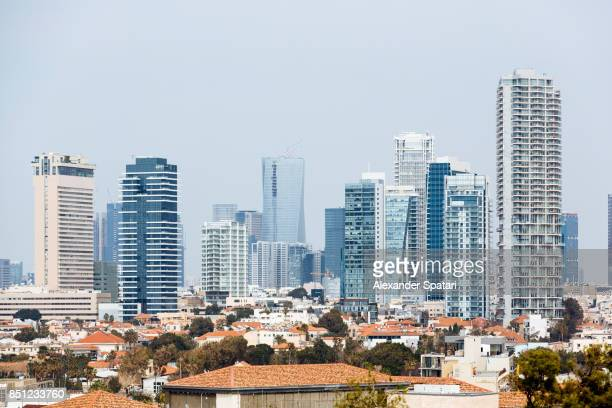 tel aviv cityscape with modern skyscrapers, israel - tel aviv stock pictures, royalty-free photos & images