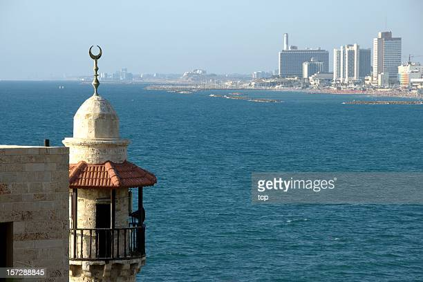 tel aviv from jaffa city (israel) - tel aviv stock pictures, royalty-free photos & images