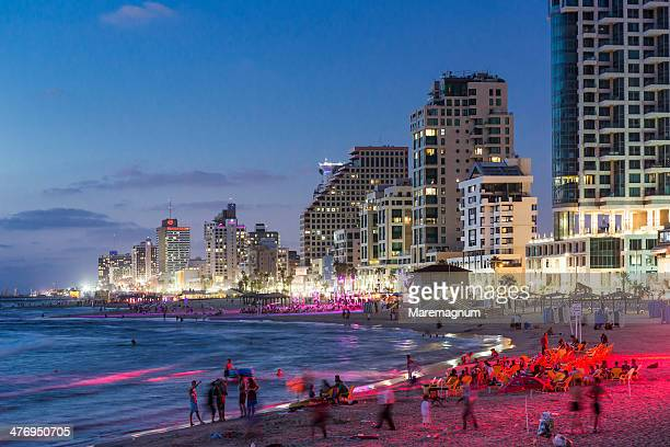 Tel Aviv, Ge'ula beach and the town