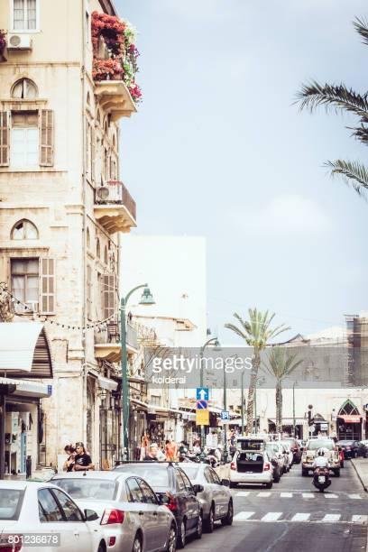 Tel Aviv old city streets at midday