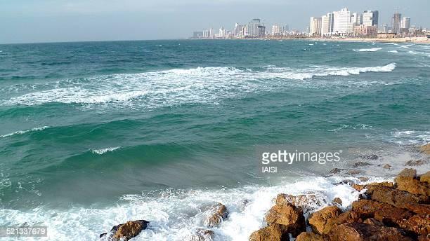 Tel Aviv, seen from Jaffa port