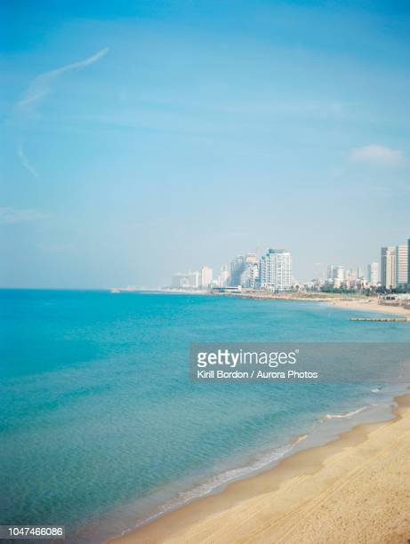 tel aviv seen from old city of jaffa, israel - tel aviv stock photos and pictures