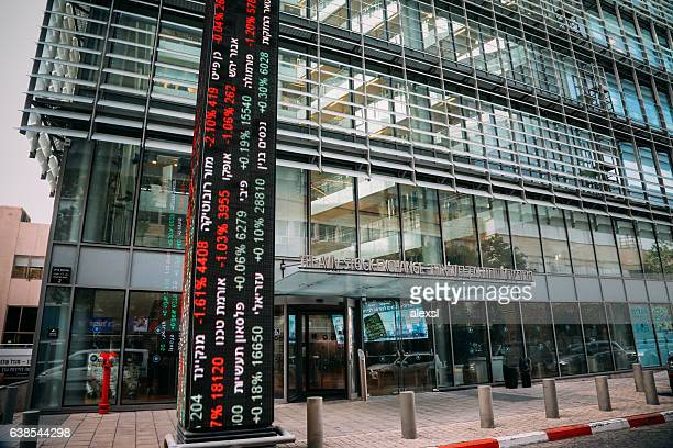 tel aviv stock exchange building israel - financial technology bildbanksfoton och bilder