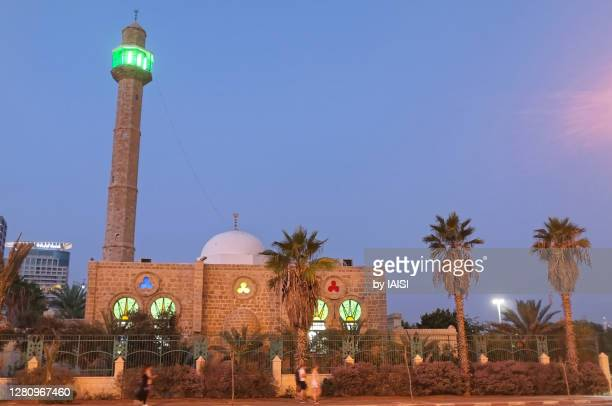 tel aviv-jaffa, hassan beq at dusk - israel stock pictures, royalty-free photos & images