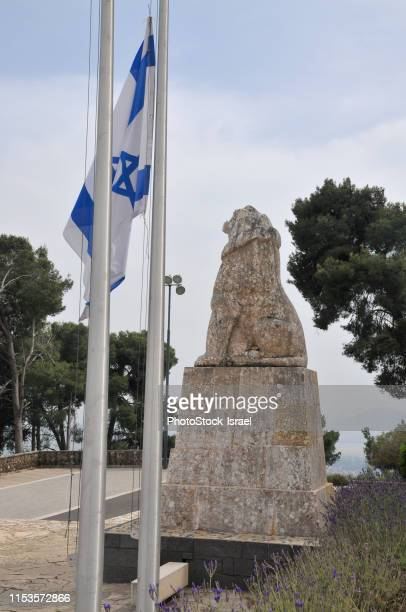 tel hai the roaring lion monument - military attack stock pictures, royalty-free photos & images