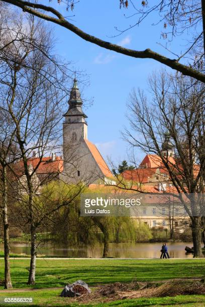 telc, southern moravia, czech republic - dafos stock photos and pictures