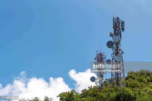 telecommunication tower - communications tower stock pictures, royalty-free photos & images