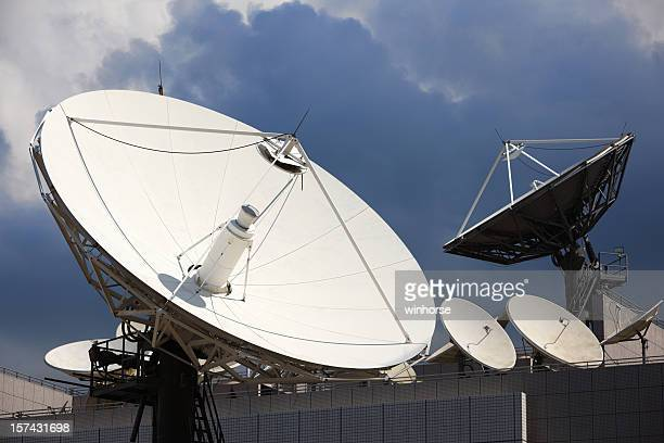 Telecommunications satellites at a very large scale