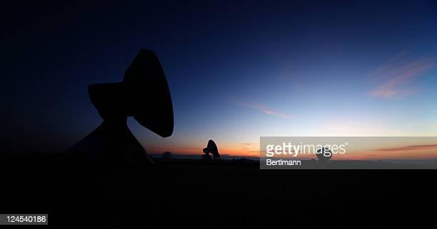 Telecommunications Satellites at night
