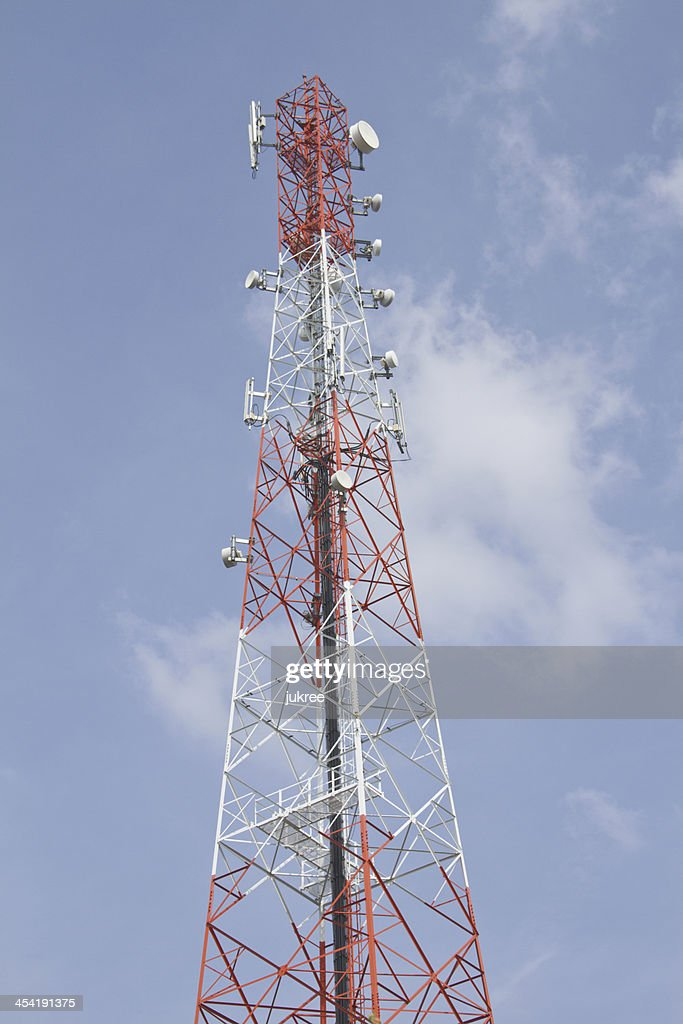 Torre de telecomunicaciones : Foto de stock