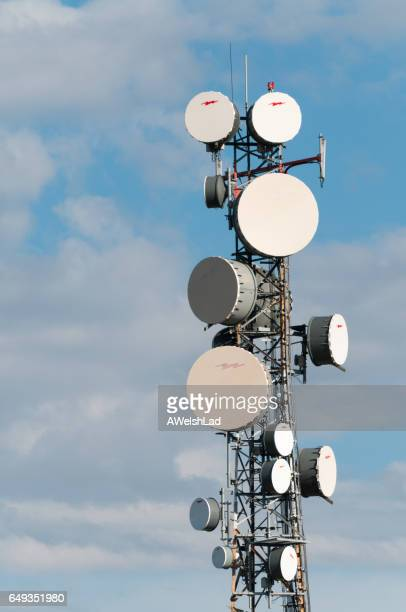 Telecommunications tower vertical format