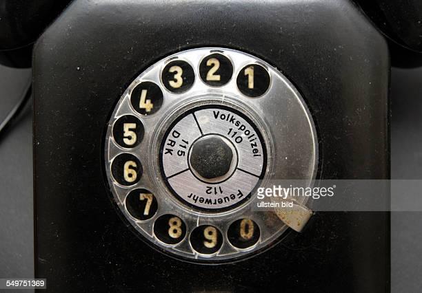 Telefon Wählscheibe mit Telefonnummer Volkspolizei DRK und Feuerwehr