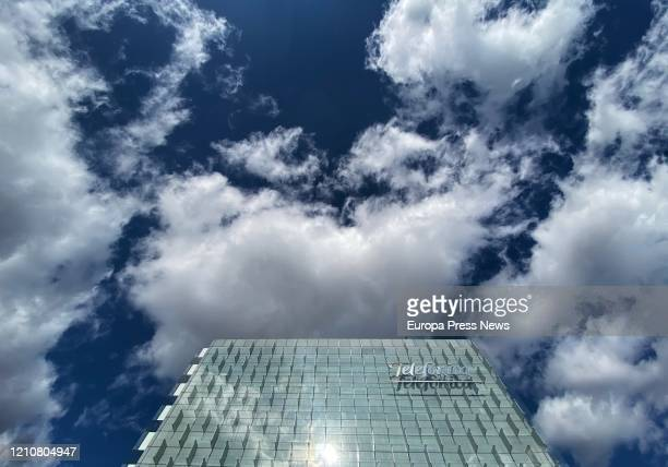 Telefonica headquarters in Madrid, two days after the company confirmed one of its employees is infected with coronavirus on March 06, 2020 in...