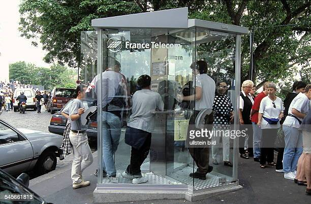 Telefonzelle der France Telecom amMontmartre Paris Juni 1999