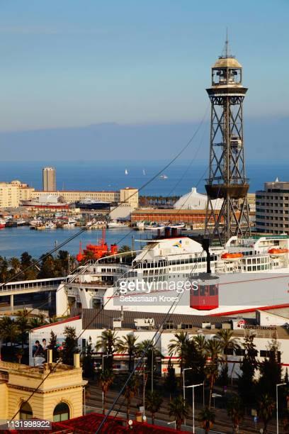 Telefèric del Port or Aeri del Port, Cable Car in Barcelona, Spain