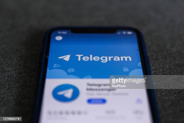 Telegram logo is seen displayed on a phone screen in this illustration photo taken in Poland on December 1, 2020.