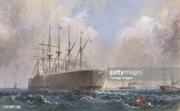 Telegraph Cable Fleet at Sea 186566 Artist Robert Charles Dudley