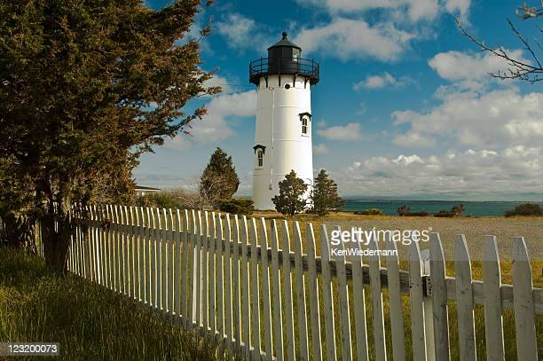 telegraph hill lighthouse - marthas vineyard stock pictures, royalty-free photos & images