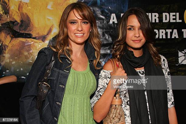 Telehit VJ's Karla Gomez and Odalys Ramirez attends the Slava's Snowshow premier at the Telmex theater on May 13 2009 in Mexico City Mexico
