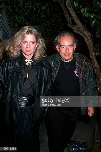 Teleivison Personality Robin Leach and wife Judith Ledford sighted on December 14 1988 at Spago Restaurant in Beverly Hills California