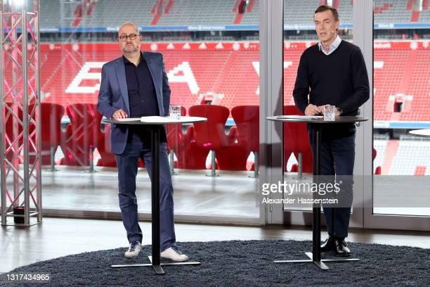 Telekom Senior Vice President Global Strategic Projects Michael Hagspihl and Marketing Partnerships Telekom and Telekom Head of Business Unit TV...