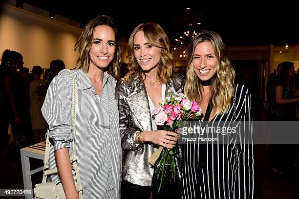 Telelvision host Louise Roe designer Anine Bing and Renee Bargh attend the Anine Bing Celebrates Los Angeles Flagship Opening at Anine Bing Boutique...