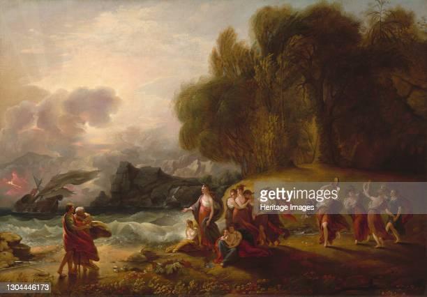 Telemachus and Calypso, c. 1809. Artist Benjamin West.