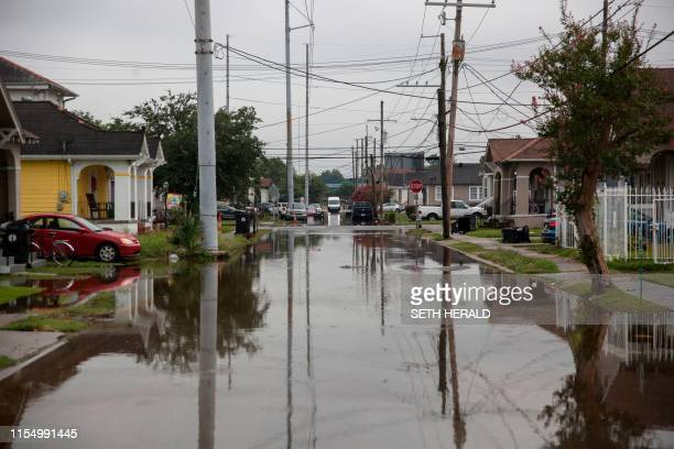 S Telemachus Street in New Orleans is flooded after flash floods struck the area early on July 10 2019 The US city of New Orleans was under a...