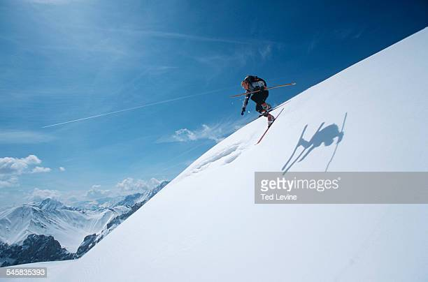 Telemark Skier Jumping