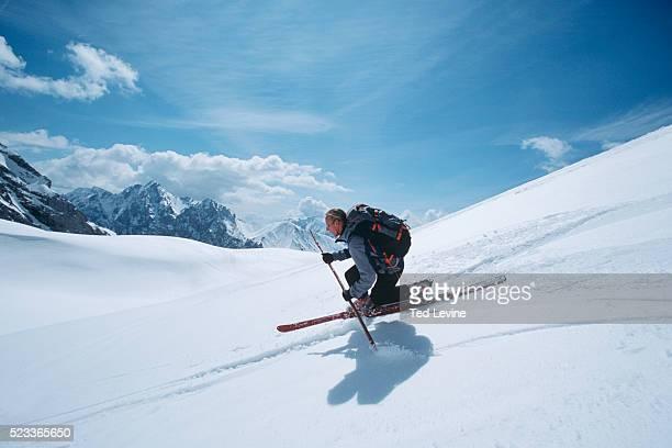telemark skier - garmisch partenkirchen stock pictures, royalty-free photos & images