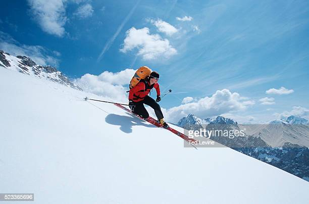 telemark skier - telemark stock pictures, royalty-free photos & images