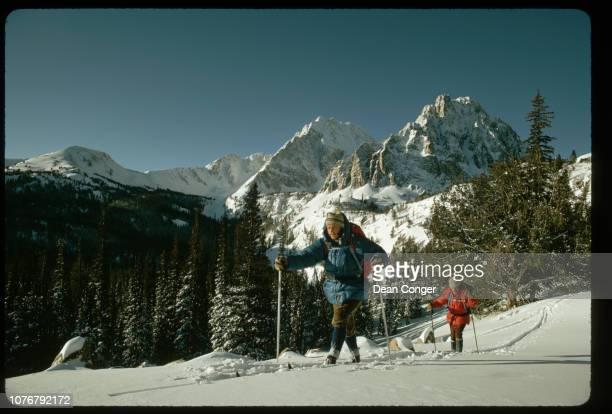 Telemark Skiers Near Castle Peak