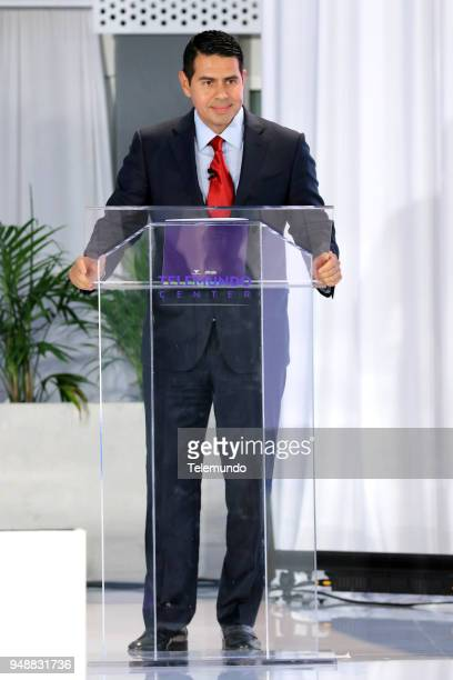 EVENTS Telemundo Center Opening 2018 Pictured Cesar Conde Chairman NBCUniversal International Group and NBCUniversal Telemundo Enterprises on April 9...