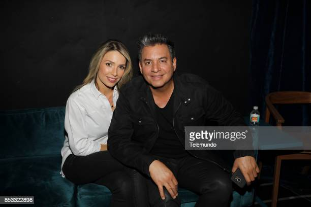 UNIDOS Telemundo's Primetime Special from Cisneros Studio in Miami FL Pictured Alessandra Villegas and Daniel Sarcos on Sunday September 24 2017