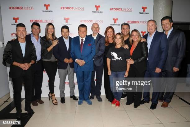 UNIDOS Telemundo's Primetime Special from Cisneros Studio in Miami FL Pictured Jorge Bernal Gabriel Porras Erika Csiszer Cesar Conde Don Francisco...