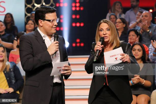 UNIDOS Telemundo's Primetime Special from Cisneros Studio in Miami FL Pictured Raúl González and Ana María Polo on Sunday September 24 2017